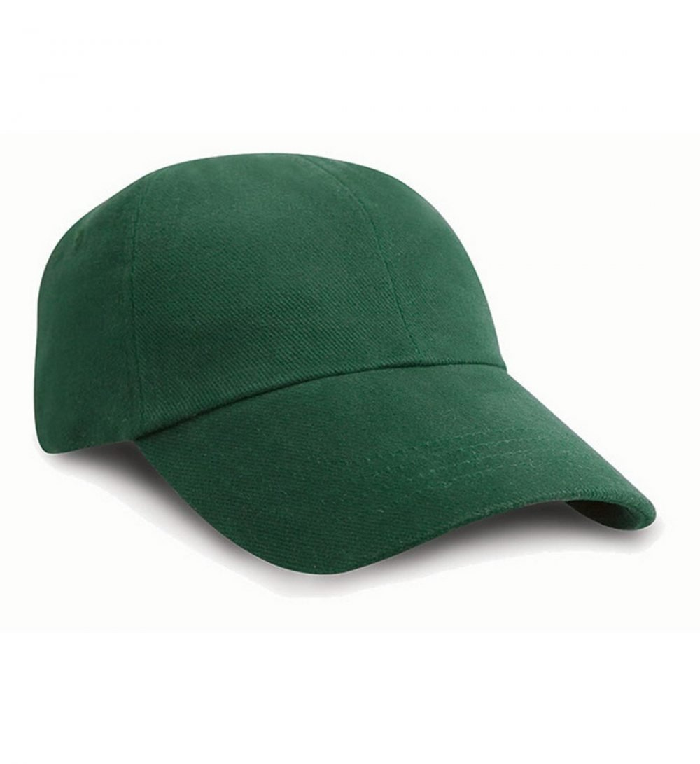 Result Low Profile Heavy Brushed Cotton Cap RC24 Forest Green Colour