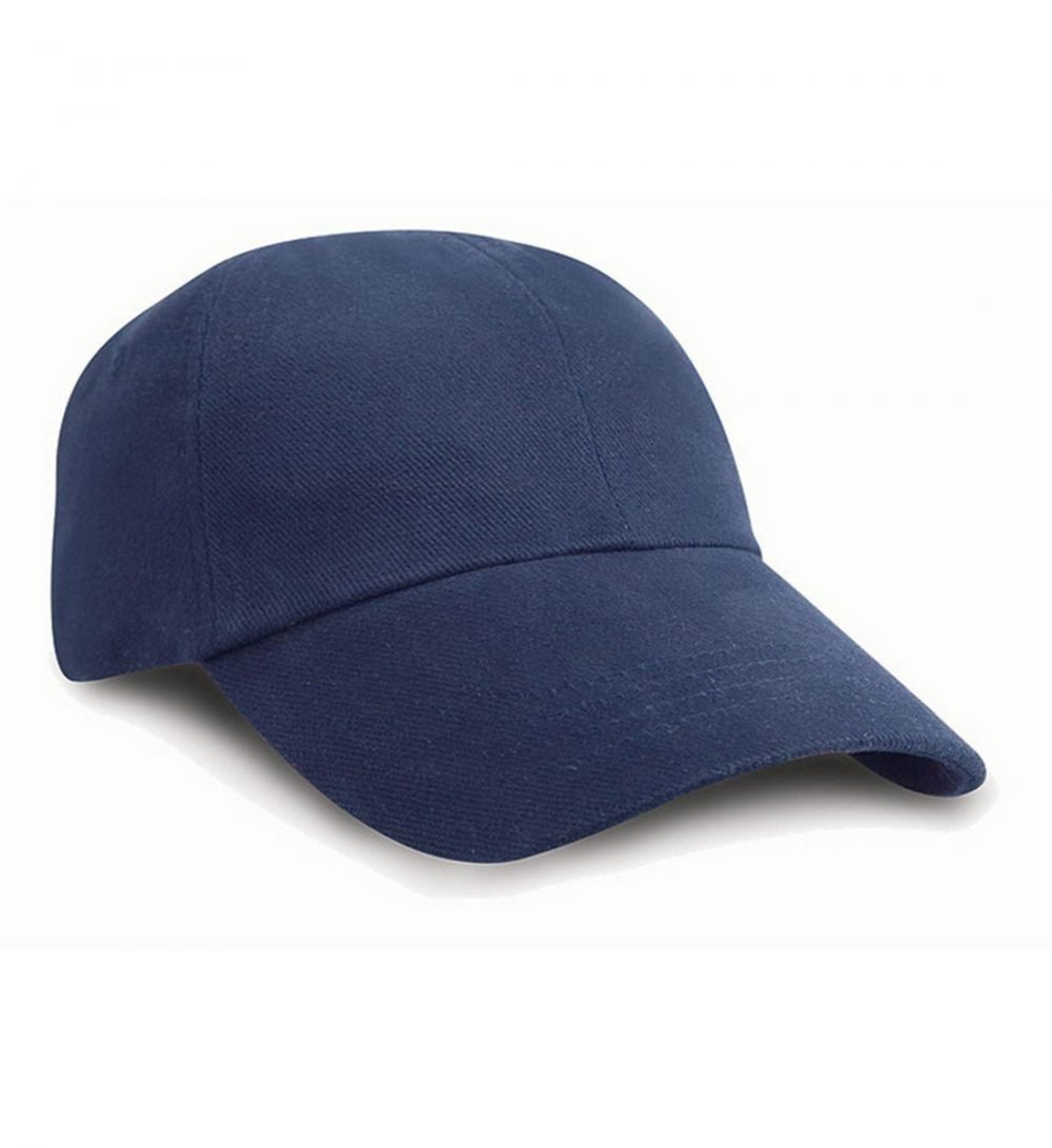 PPG Workwear Result Low Profile Heavy Brushed Cotton Cap RC24 Navy Blue Colour