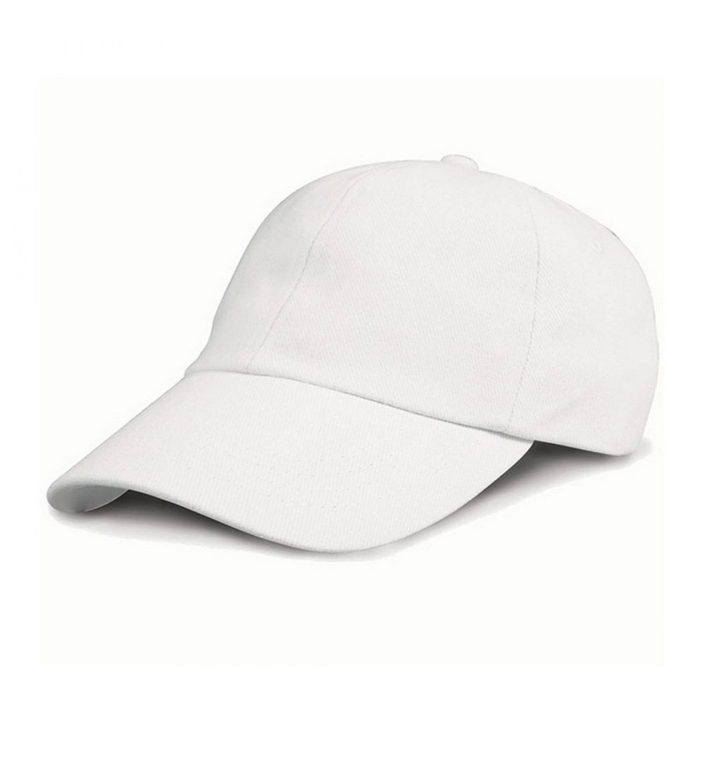 Result Low Profile Heavy Brushed Cotton Cap RC24 White Colour