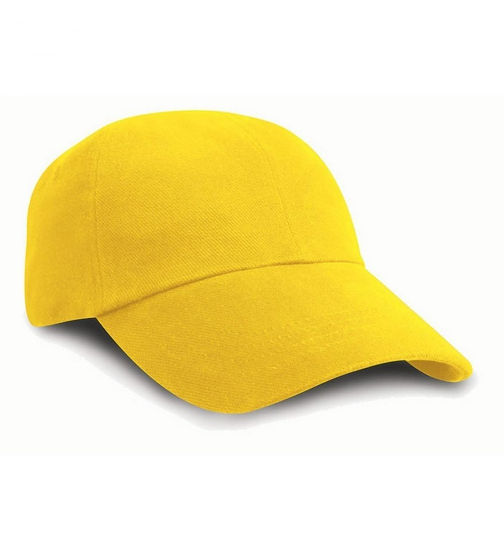 PPG Workwear Result Low Profile Heavy Brushed Cotton Cap RC24 Yellow Colour