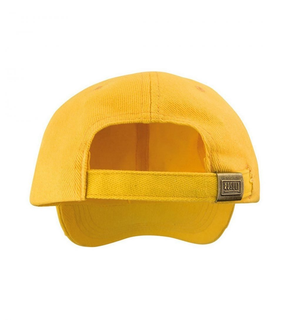 Result Low Profile Heavy Brushed Cotton Cap RC24 Yellow Colour Back View