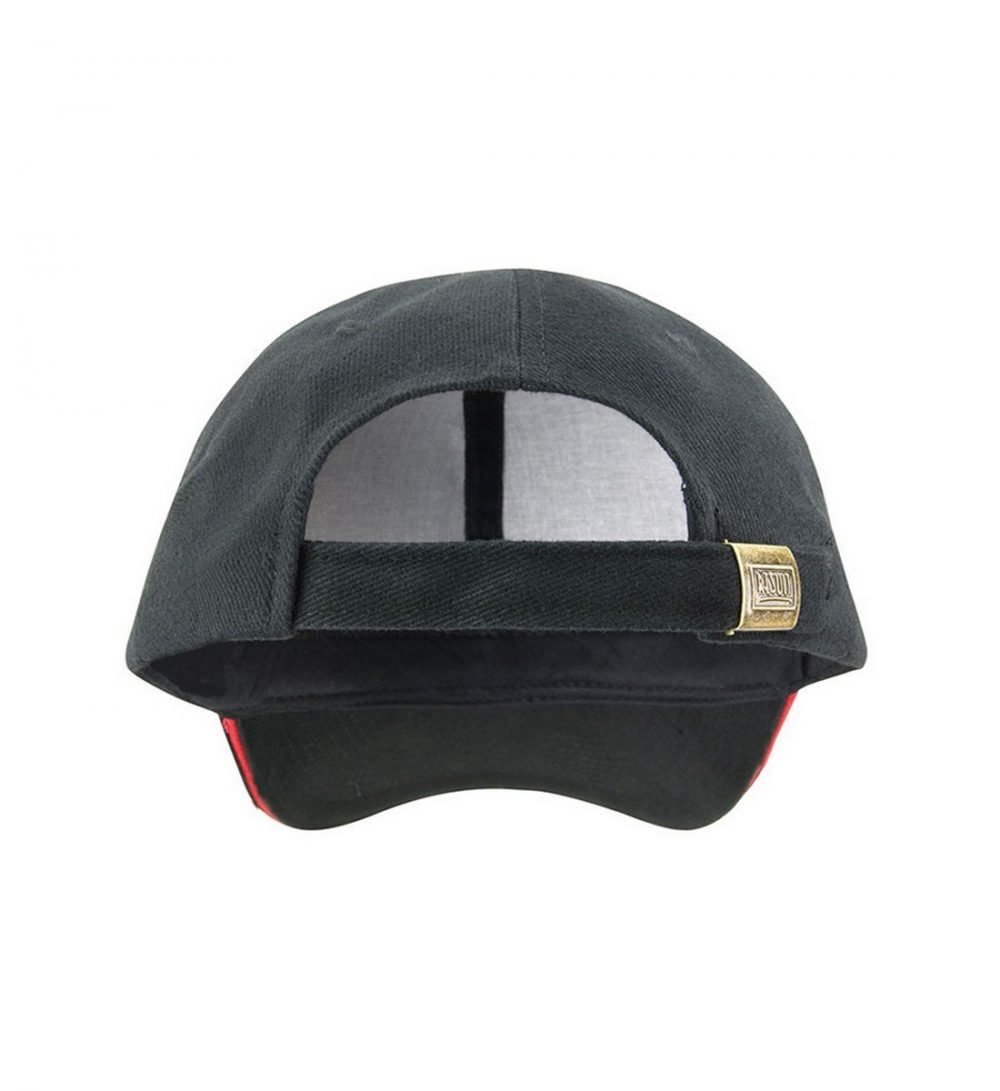 Result Pro Style Cap With Sandwich Peak RC25P Black and Red Colour Back View