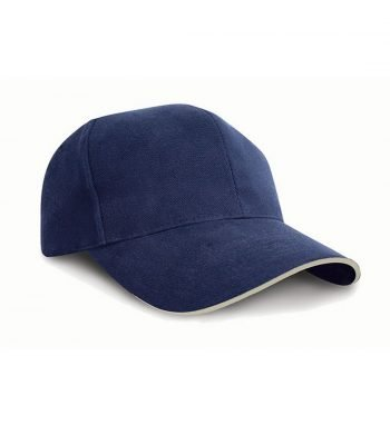 PPG Workwear Result Pro Style Cap With Sandwich Peak RC25P Navy Blue and Natural Colour