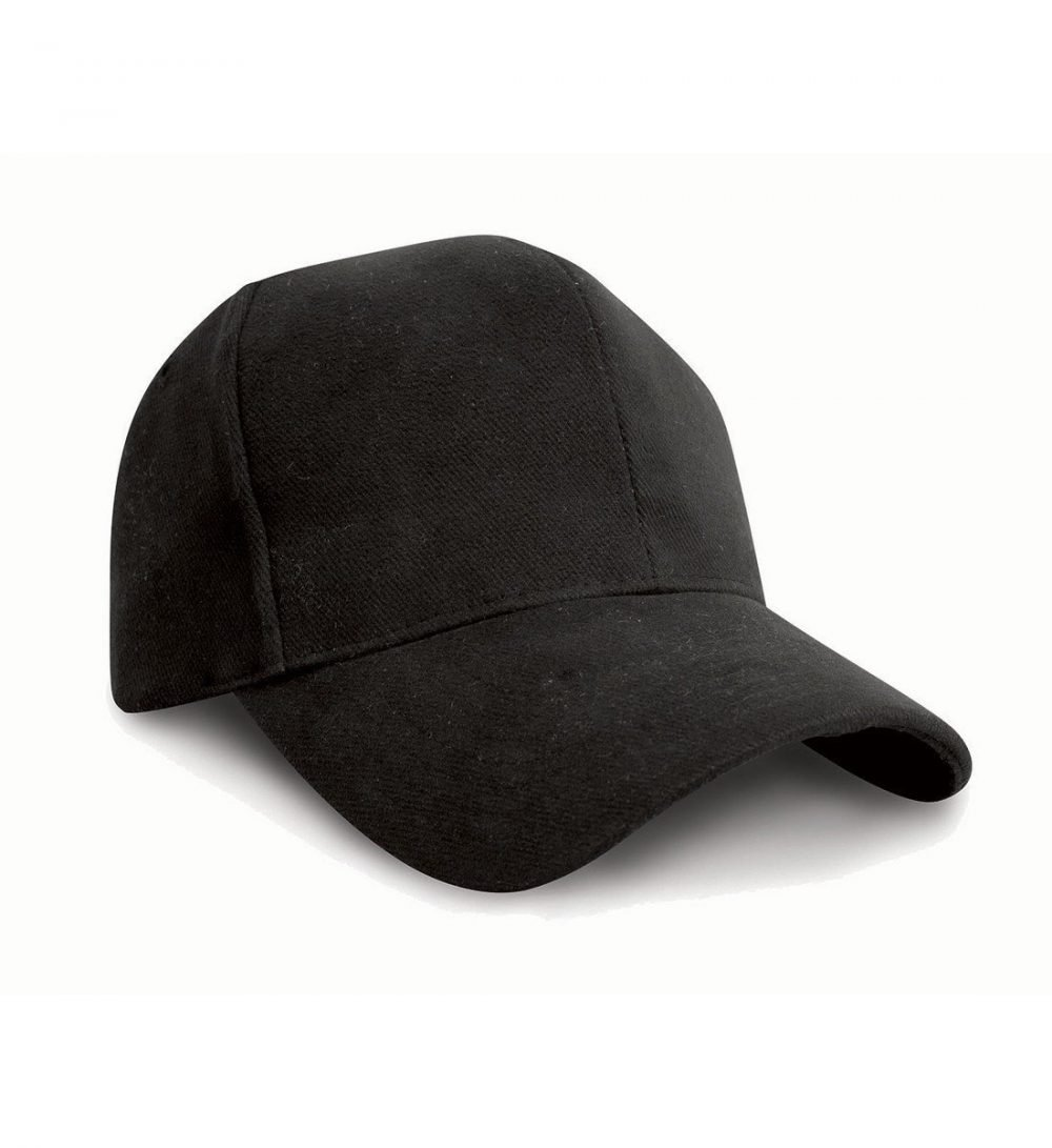 PPG Workwear Result Pro Style Heavy Brushed Cotton Cap RC25 Black Colour