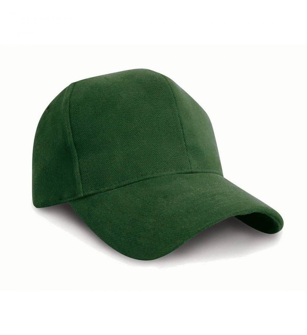 Result Pro Style Heavy Brushed Cotton Cap RC25 Forest Green Colour