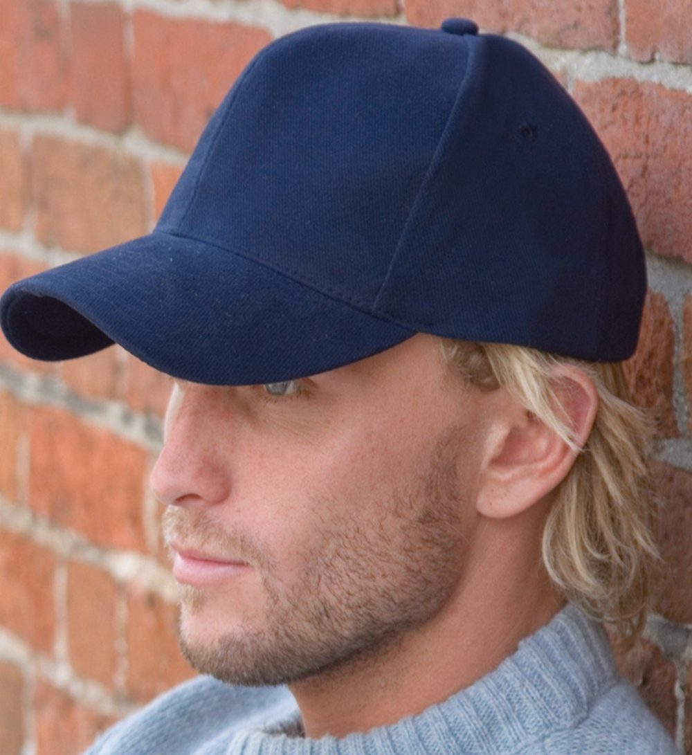 Result Pro Style Heavy Brushed Cotton Cap RC25 Model Wearing Cap