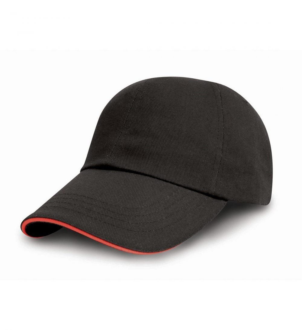 PPG Workwear Result Printers/Embroiderers Cap RC50 Black and Red Colour