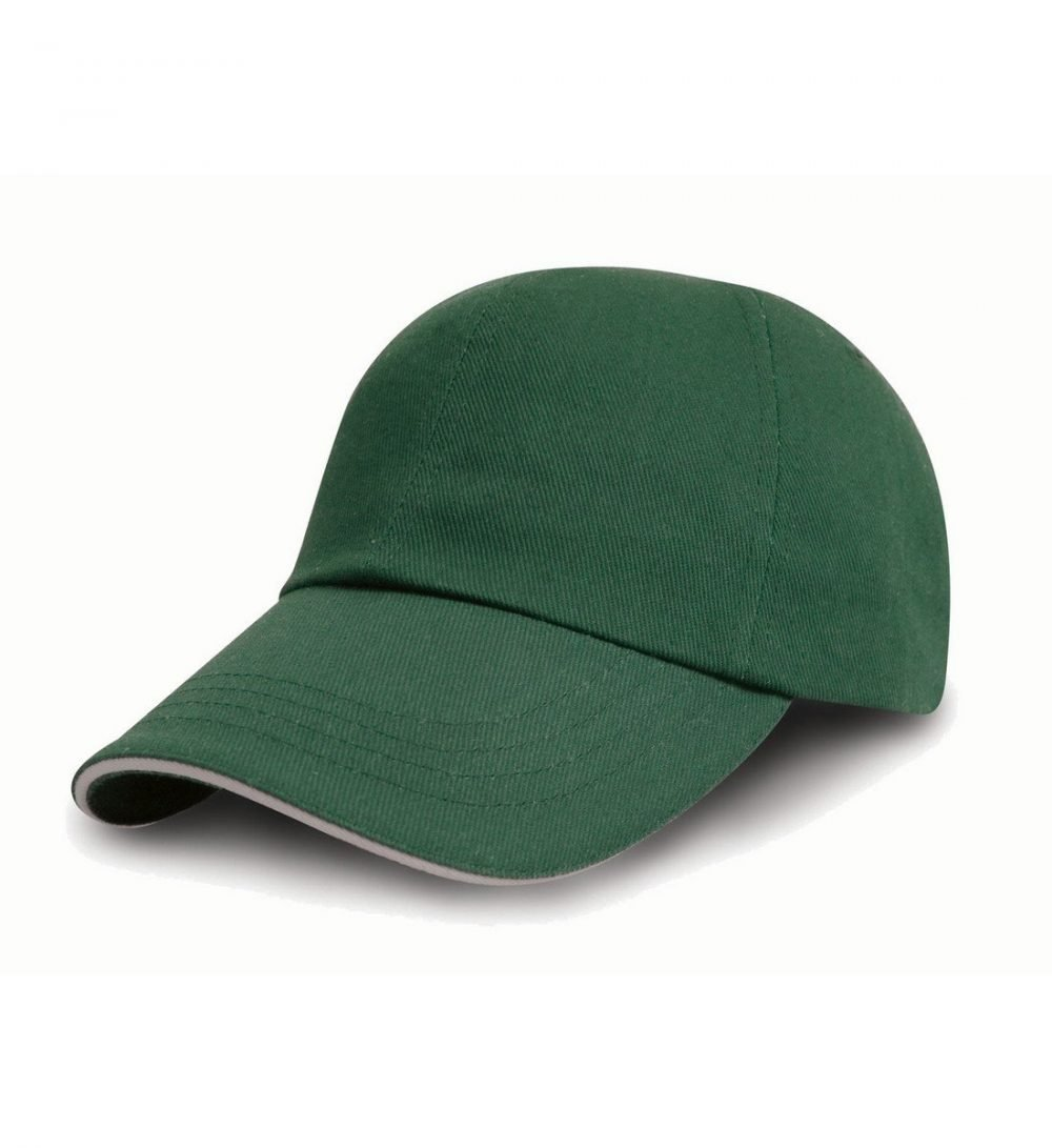 PPG Workwear Result Printers/Embroiderers Cap RC50 Forest Green and Puty Colour
