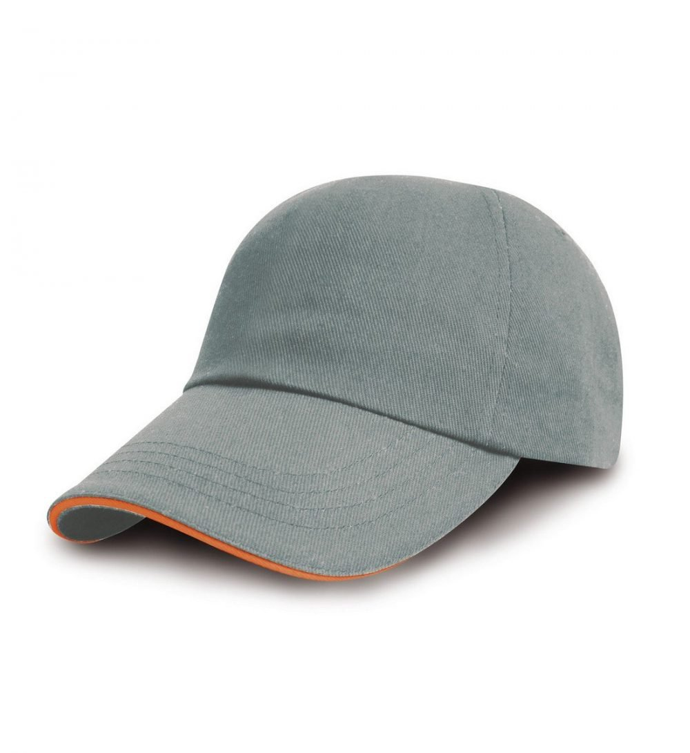 PPG Workwear Result Printers/Embroiderers Cap RC50 Heather and Amber Colour