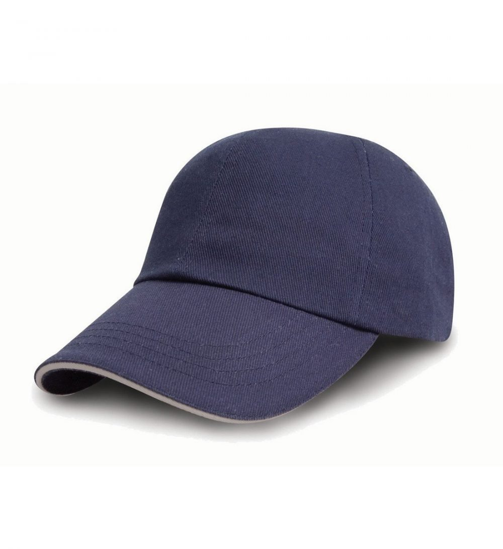 PPG Workwear Result Printers/Embroiderers Cap RC50 Navy Blue and Puty Colour
