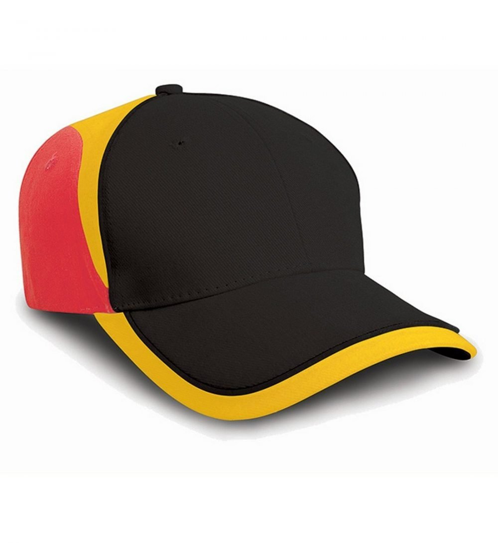 PPG Workwear Result National Cap RC62 Black Yellow and Red Colour