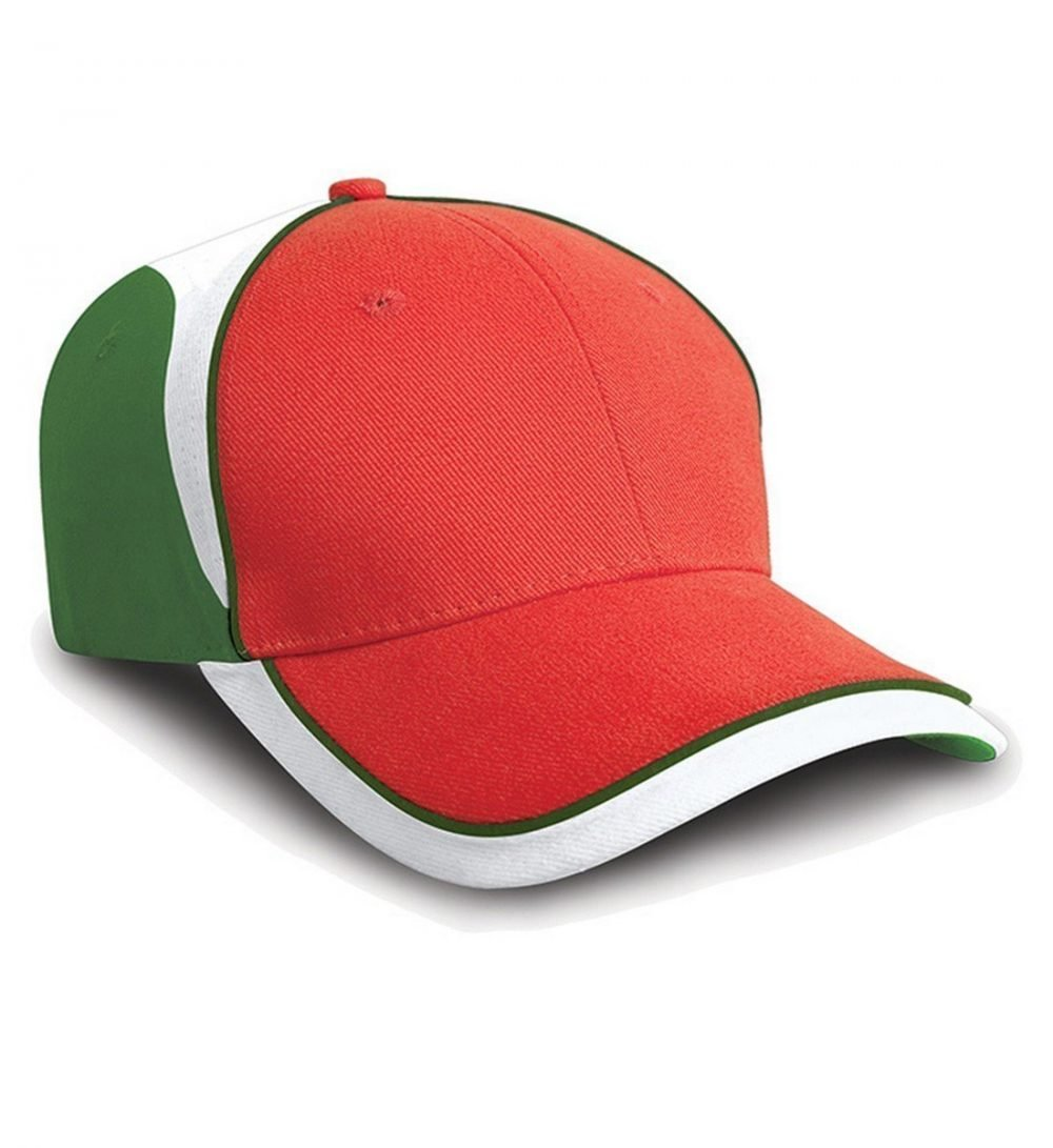 PPG Workwear Result National Cap RC62 Red White and Green Colour