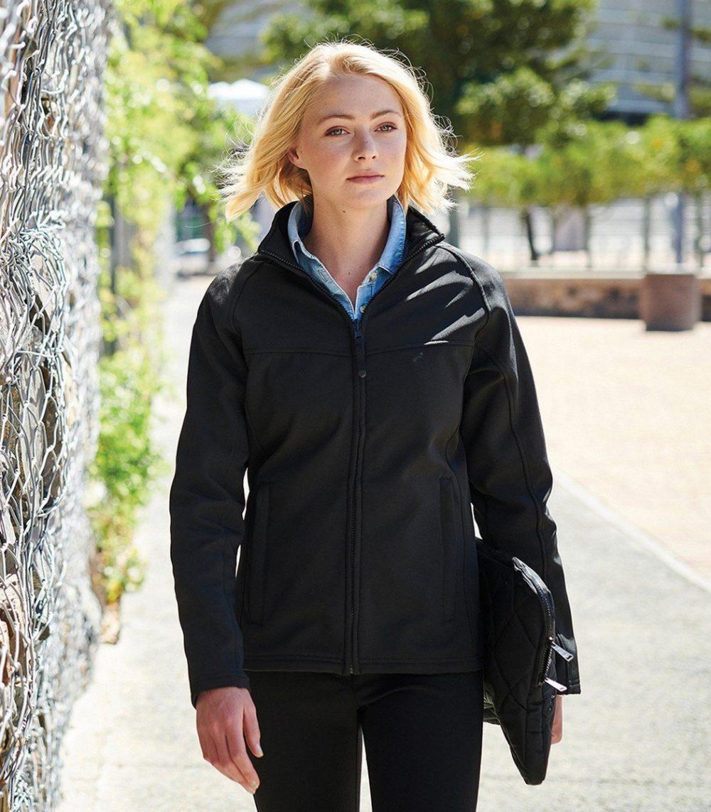 PPG Workwear Regatta Uproar Ladies Softshell Jacket TRA645 Black Colour