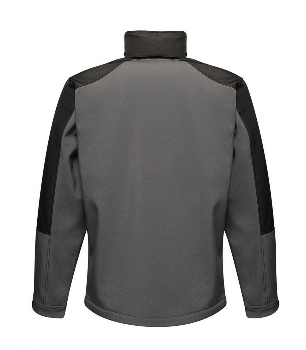 Regatta Hydroforce 3-layer Membrane Softshell Jacket TRA650 Seal Grey and Black Colour Back View