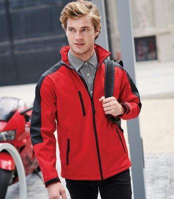 PPG Workwear Regatta Hydroforce 3-layer Membrane Softshell Jacket TRA650 Red and Black Colour