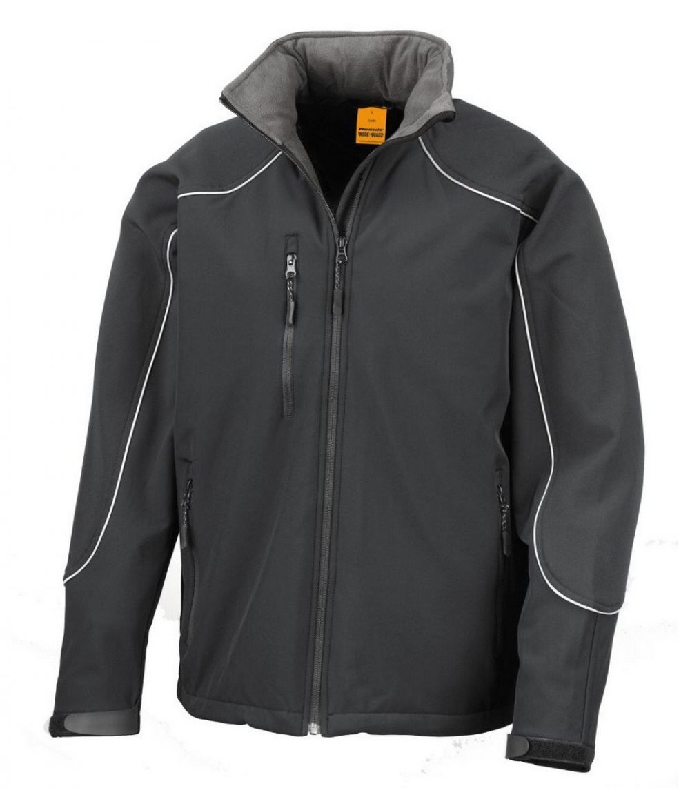 PPG Workwear Result Work-Guard Hooded Softshell Jacket R118X Black Colour