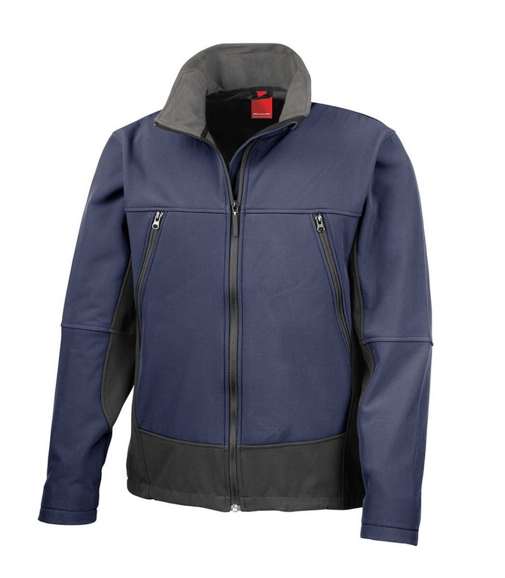 PPG Workwear Result Softshell Activity Jacket R120X Navy Blue Colour