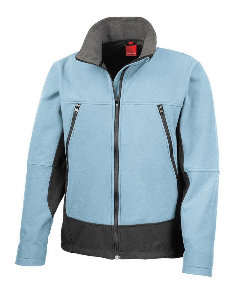 PPG Workwear Result Softshell Activity Jacket R120X Sky Blue Colour