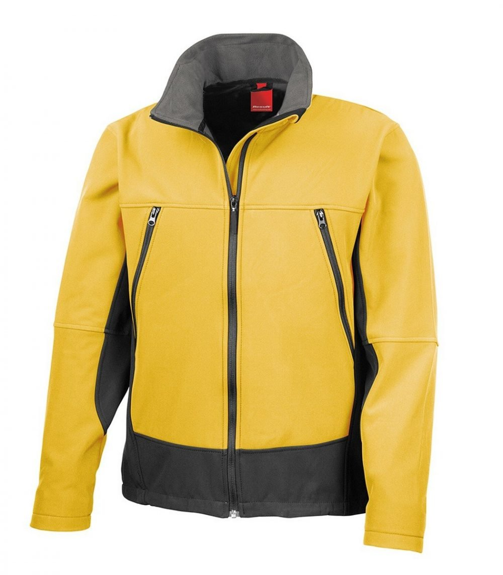 PPG Workwear Result Softshell Activity Jacket R120X Sports Yellow Colour