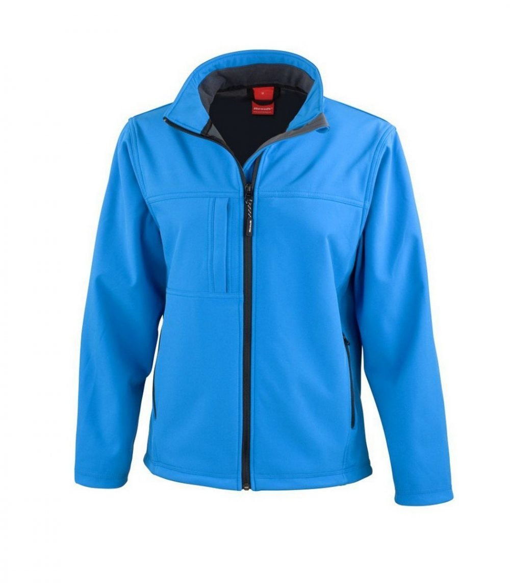 PPG Workwear Result Classic Ladies Softshell Jacket R121F Azure Blue
