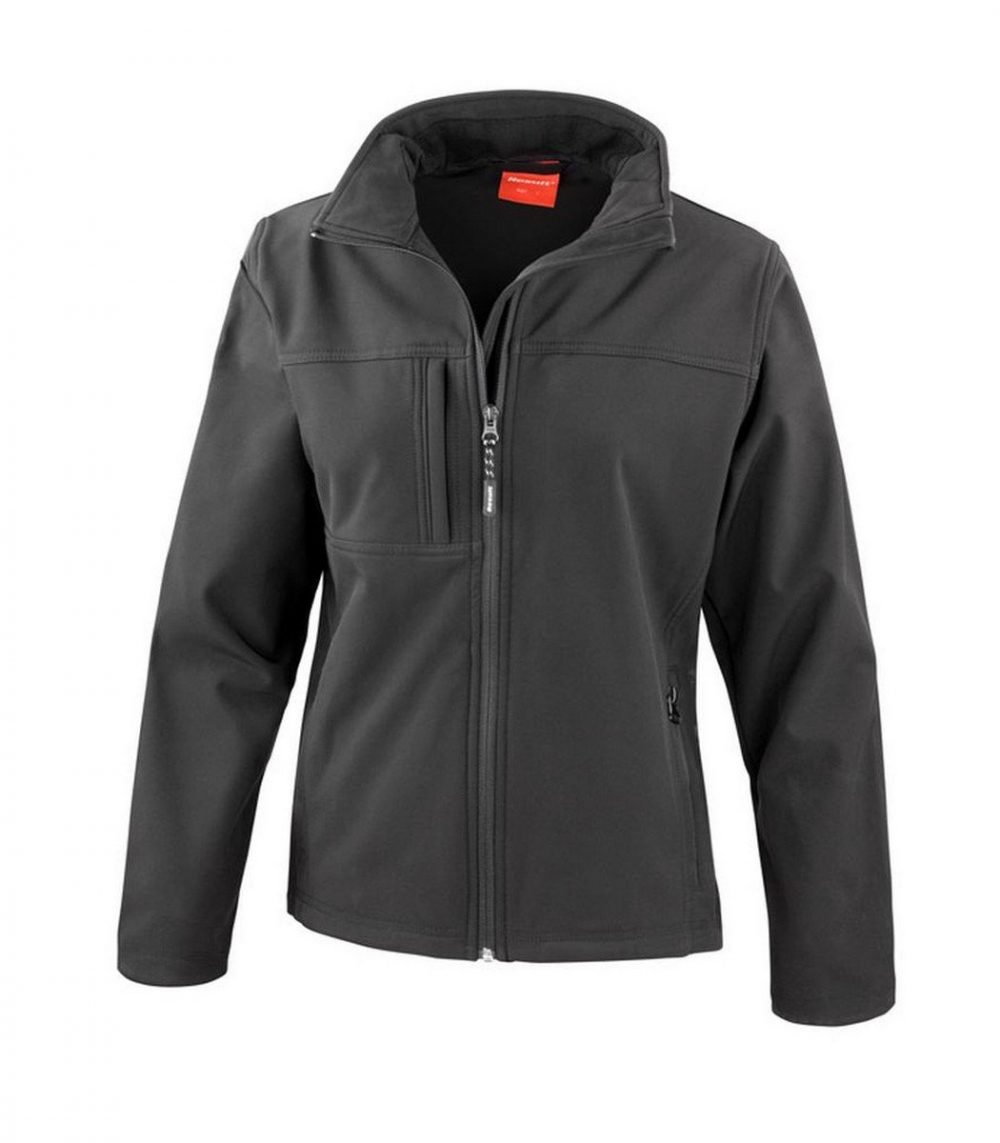 PPG Workwear Result Classic Ladies Softshell Jacket R121F Black Colour