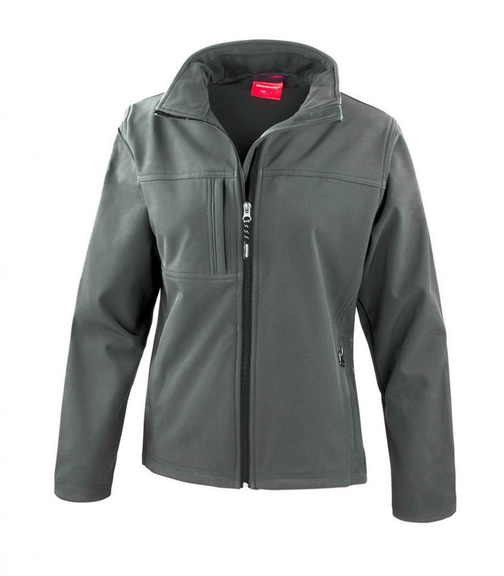 PPG Workwear Result Classic Ladies Softshell Jacket R121F Grey Colour