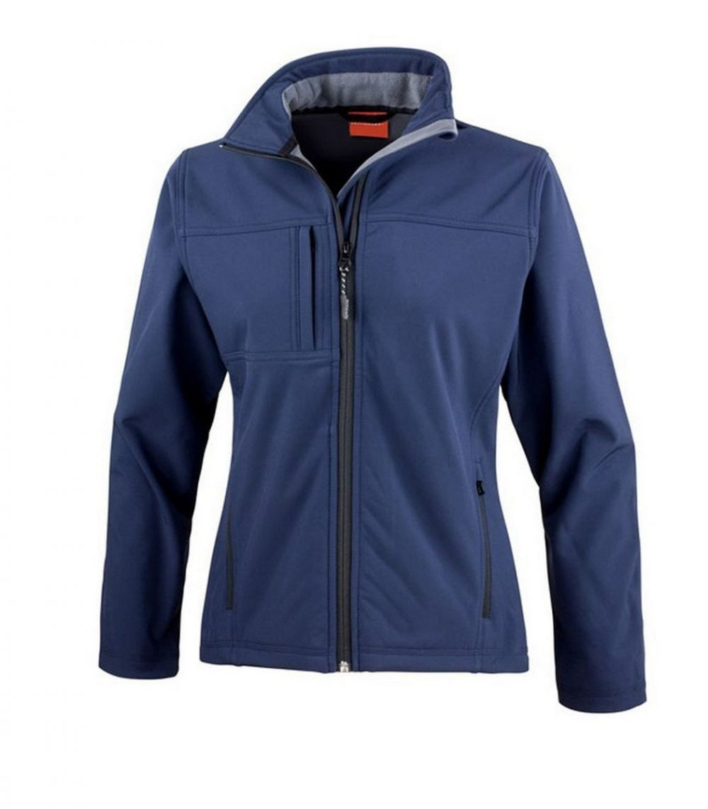 PPG Workwear Result Classic Ladies Softshell Jacket R121F Navy Blue Colour