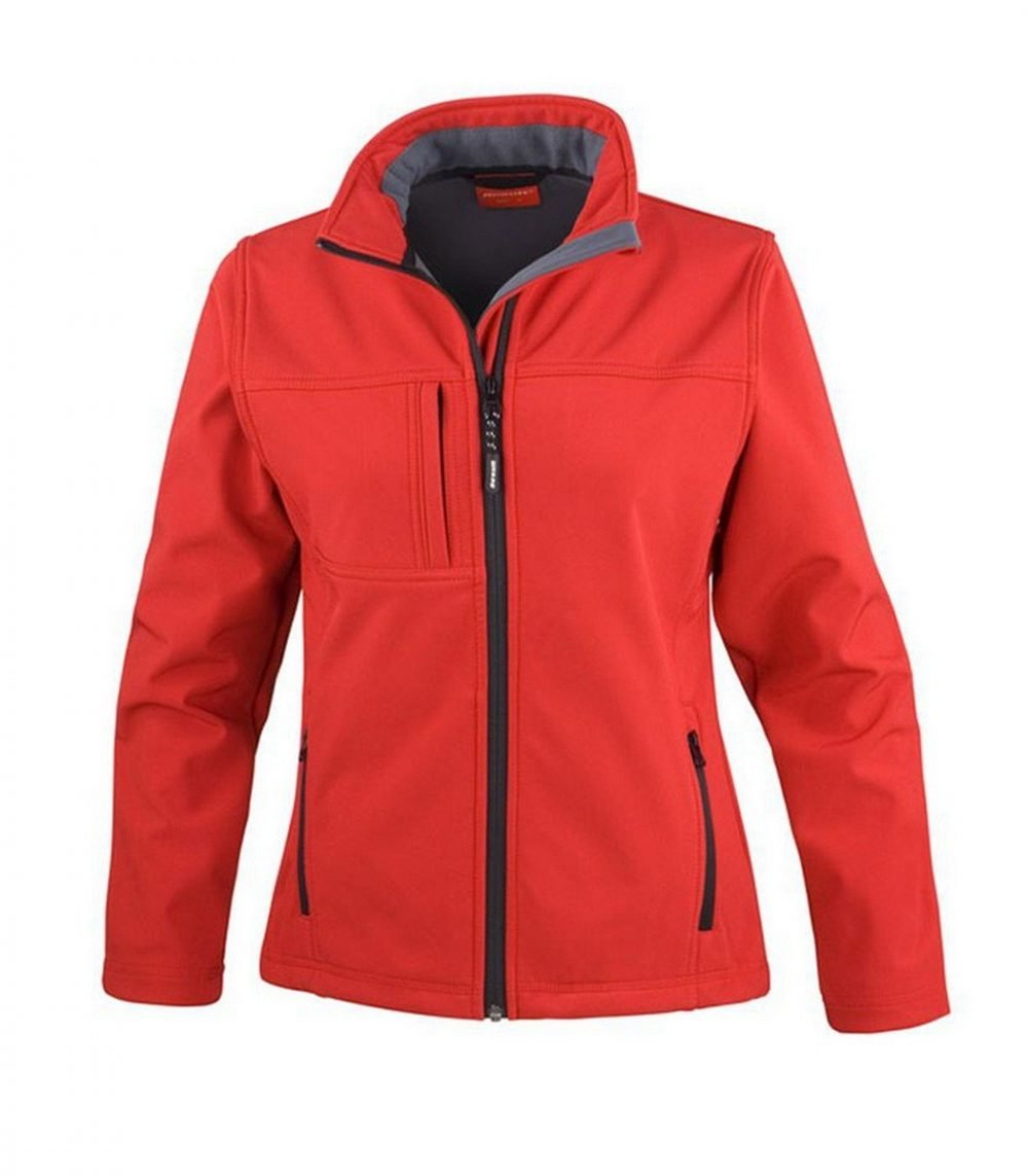 PPG Workwear Result Classic Ladies Softshell Jacket R121F Red Colour