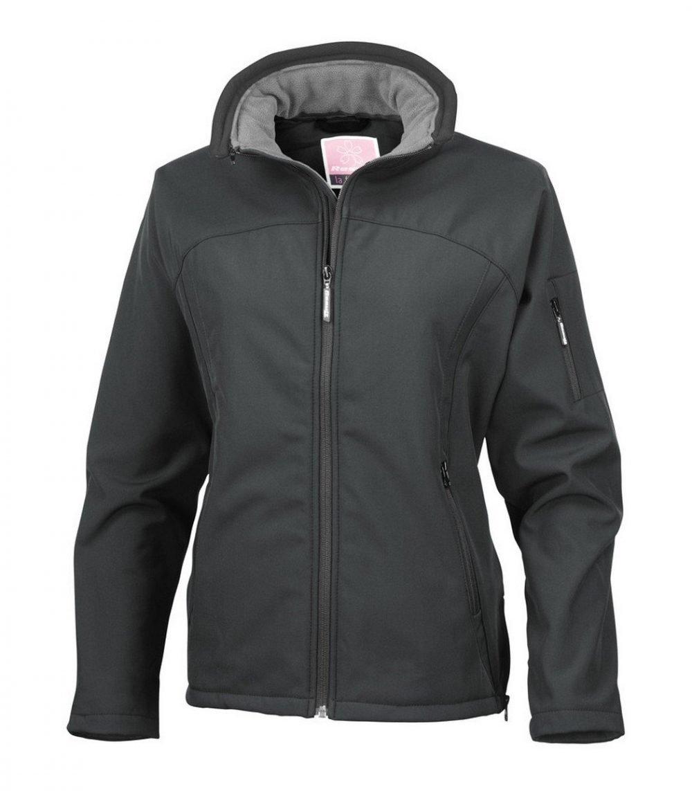 PPG Workwear Result La Femme Softshell Jacket R122F Black Colour