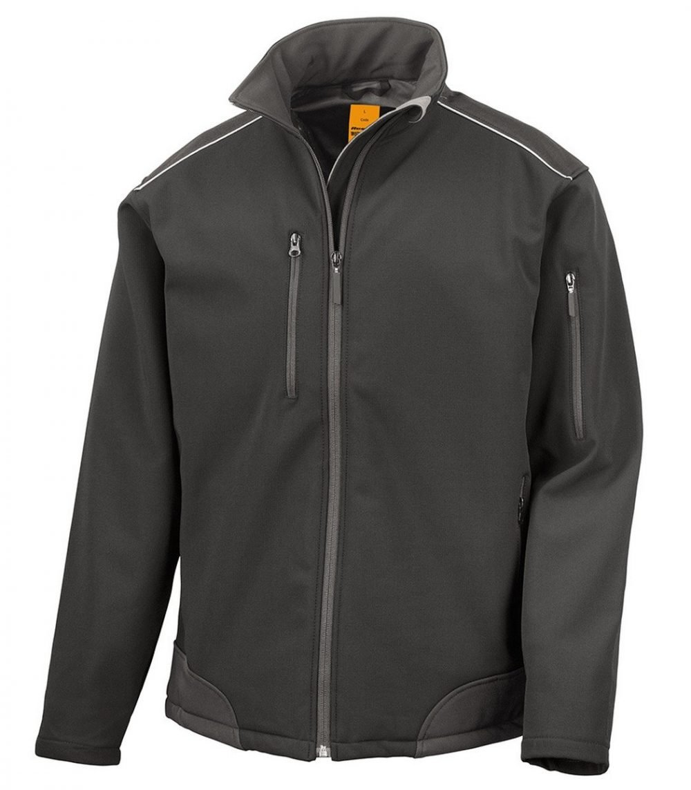 PPG Workwear Result Ripstop Workwear Softshell Jacket R124X Black Colour