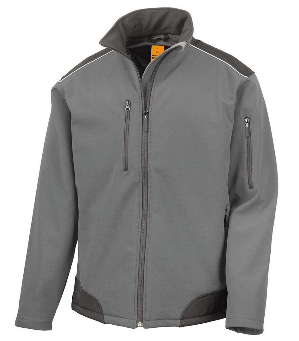 PPG Workwear Result Ripstop Workwear Softshell Jacket R124X Grey Colour