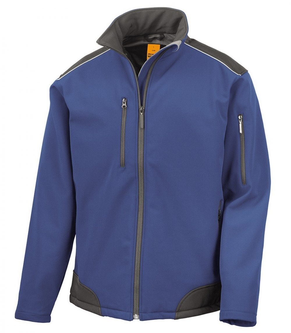 PPG Workwear Result Ripstop Workwear Softshell Jacket R124X Royal Blue Colour