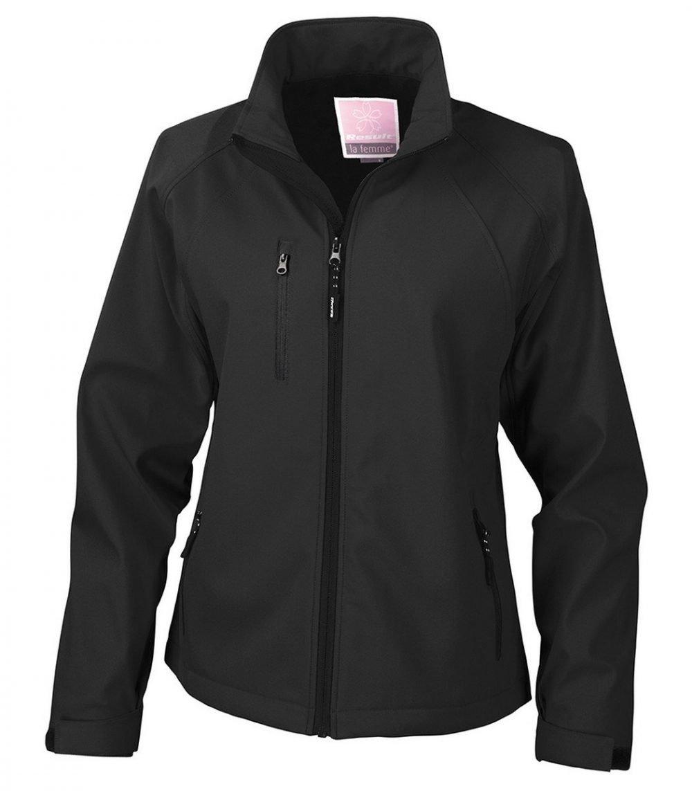 PPG Workwear Result La Femme 2 Layer Base Softshell Jacket R128F Black Colour