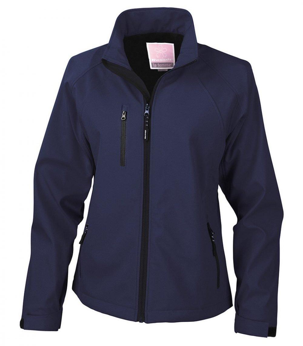 PPG Workwear Result La Femme 2 Layer Base Softshell Jacket R128F Navy Blue Colour