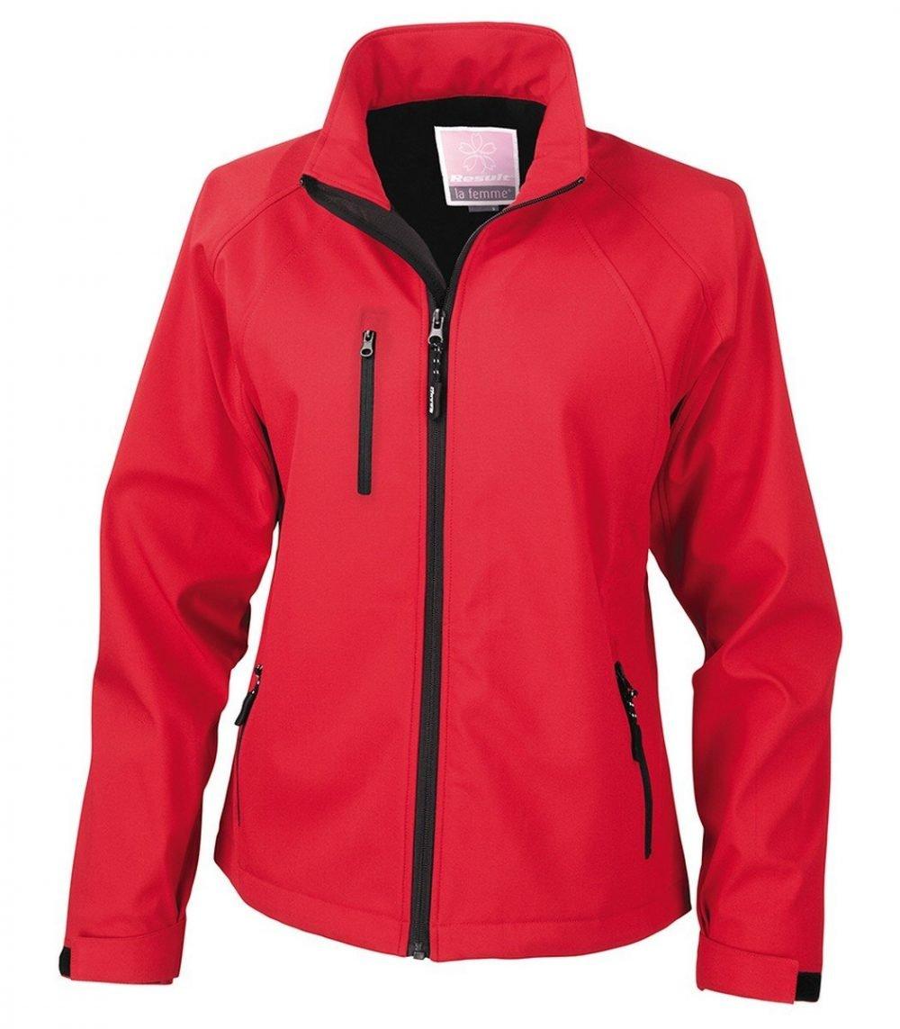 PPG Workwear Result La Femme 2 Layer Base Softshell Jacket R128F Red Colour