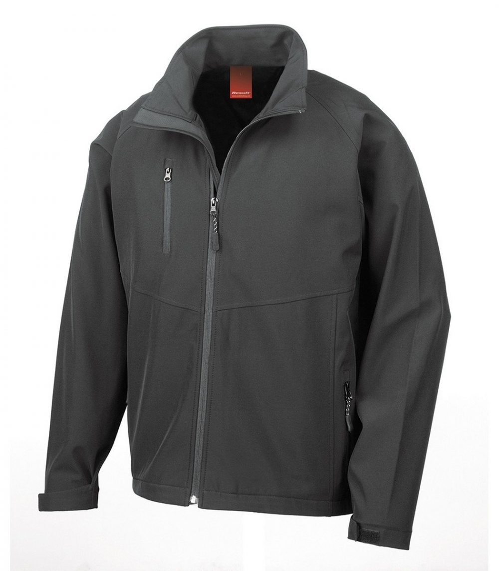 PPG Workwear Result 2 Layer Base Softshell Jacket R128M Black Colour