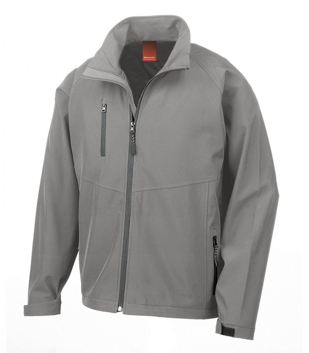 PPG Workwear Result 2 Layer Base Softshell Jacket R128M Silver Grey Colour