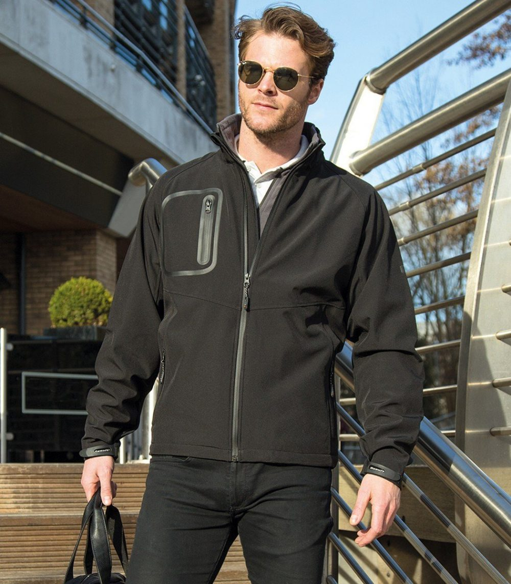 PPG Workwear Result TECH Performance Ultra Lite Softshell Jacket R136X Black Colour
