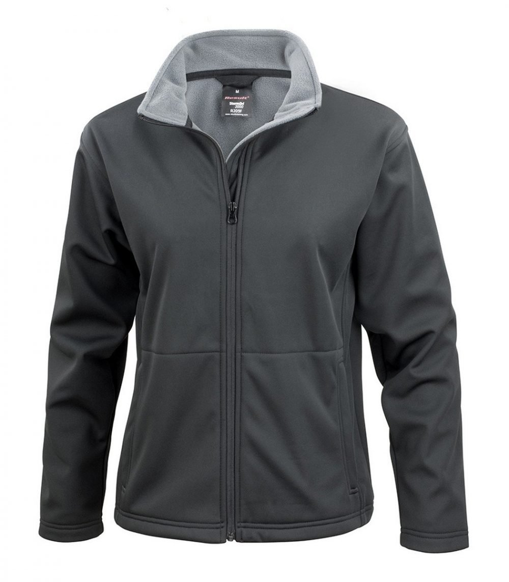 PPG Workwear Result Core Ladies Soft Shell Jacket R209F Black Colour
