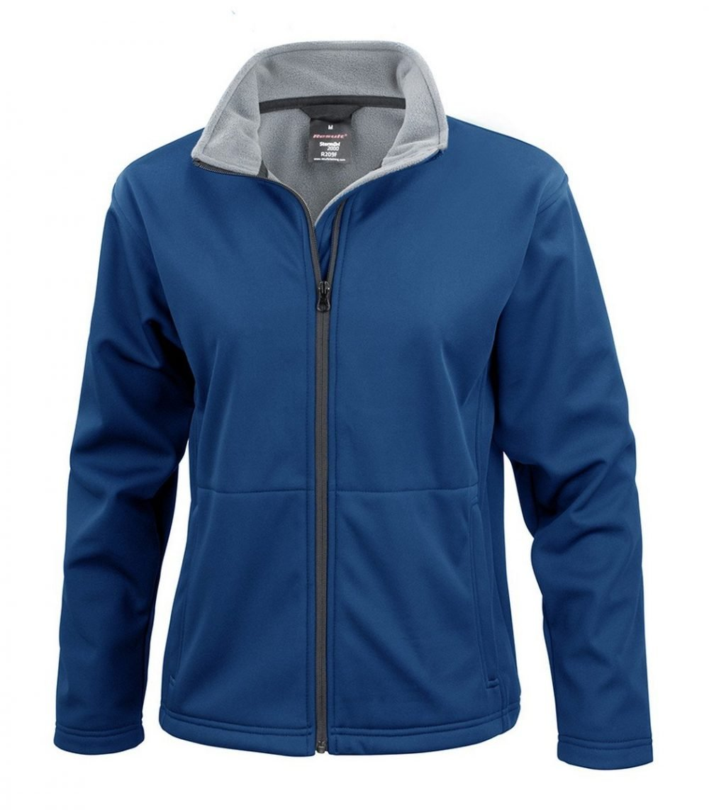 PPG Workwear Result Core Ladies Soft Shell Jacket R209F Navy Blue Colour