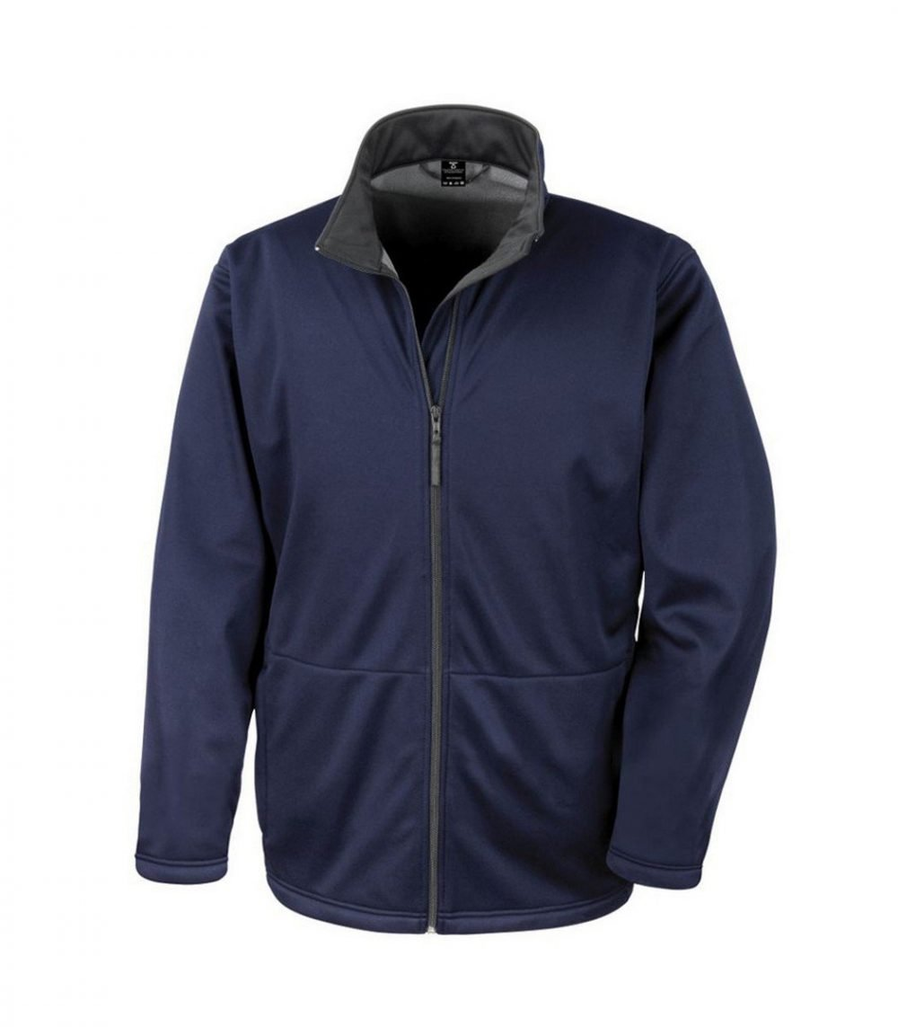PPG Workwear Result Core Mens Soft Shell Jacket R209M Navy Blue Colour