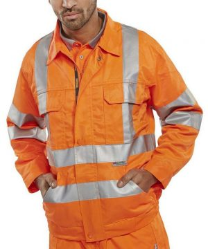 PPG Workwear B-Seen Rail Spec Hi Vis Jacket RSJ Orange Colour