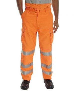 B-Seen Rail Spec Hi Vis Trouser RST Orange Colour