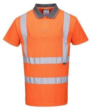 PPG Workwear Portwest Hi Vis Orange Colour Polo Shirt RT22