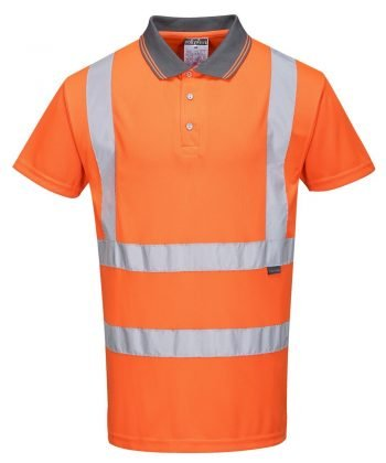 PPG Workwear Portwest Hi Vis Orange Colour Polo Shirt RT22