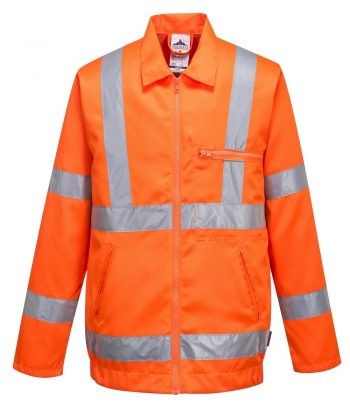 PPG Workwear Portwest Hi Vis Poly Cotton Jacket Orange Colour RT40