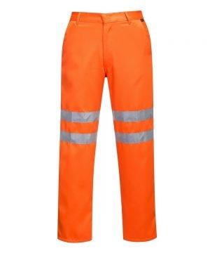Portwest Hi Vis Poly Cotton Trousers RT45 Orange Colour