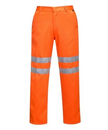Portwest Hi Vis Poly Cotton Trousers RT45 Orange Colour