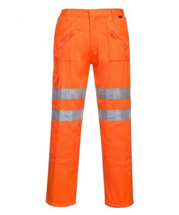 Portwest Hi Vis Rail Action Trousers RT47 Orange Colour