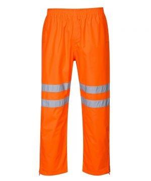 PPG Workwear Portwest Hi Vis Breathable Waterproof Trousers Orange Colour RT61